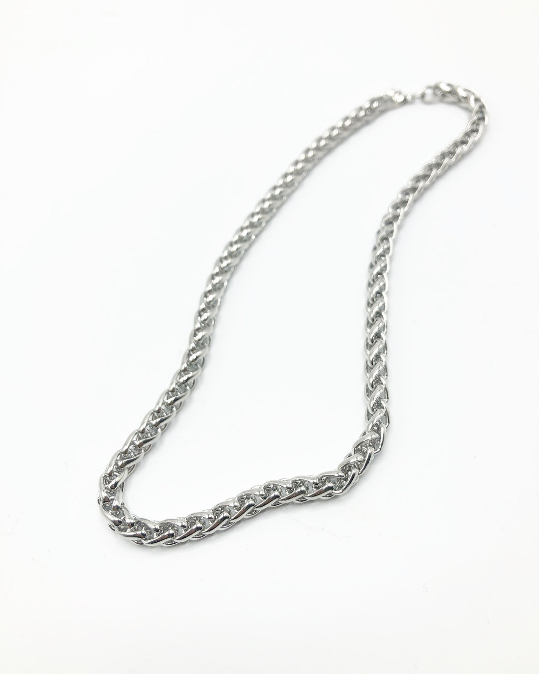 Classic Chunky Chain Necklace In Silver