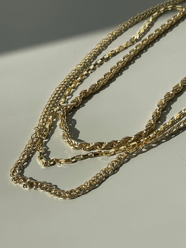 Gratia Layered Chains In Soft Gold