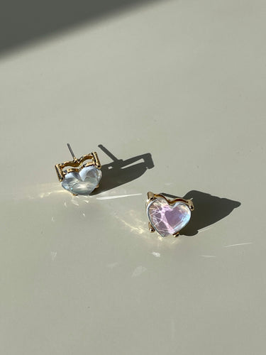 Maggie Icon Heart Stud Earring In Soft Lavender