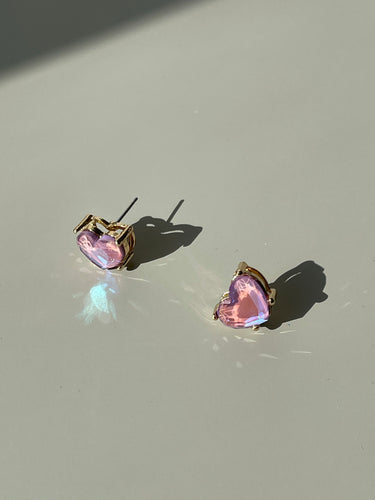 Maggie Icon Heart Stud Earring In Blush