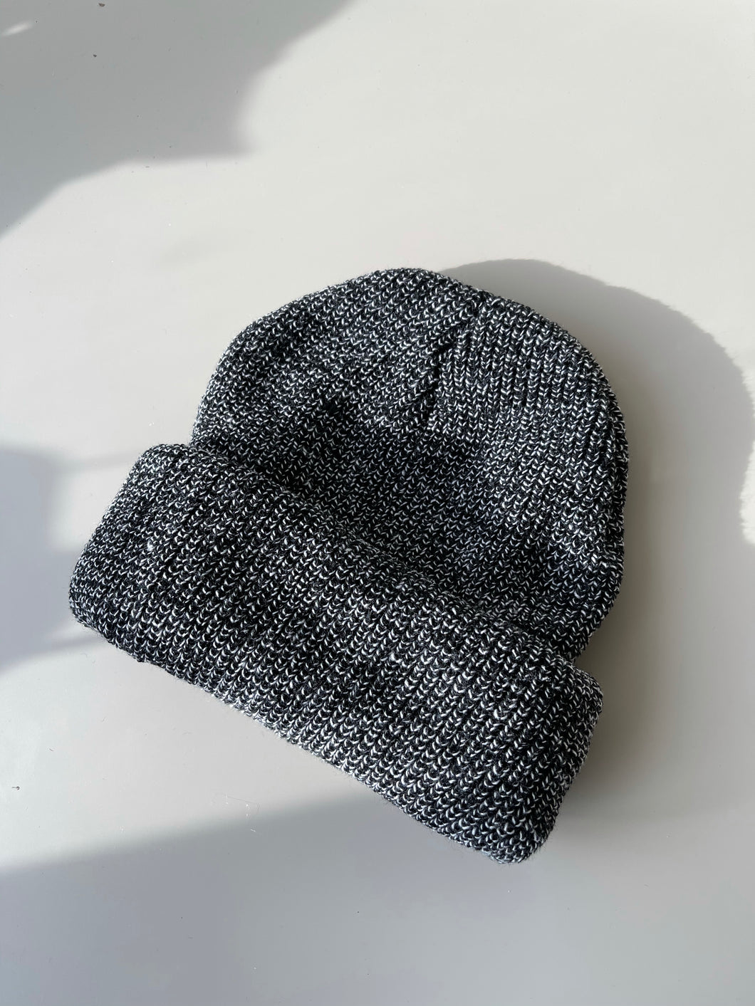 Classic Knit Beanie In Charcoal