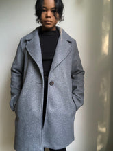 Load image into Gallery viewer, Nicolette Fleece Single Breasted Coat In Grey