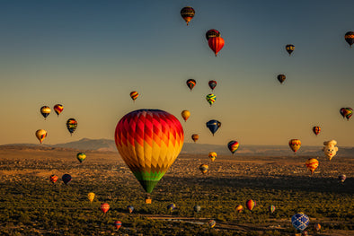 Mass Ascension over Albuquerque, New Mexico