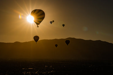 Floating over the Sandia Mountains