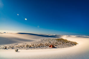 Camping at White Sands