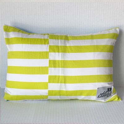 Clouds Pillow w Citrus Stripe Back