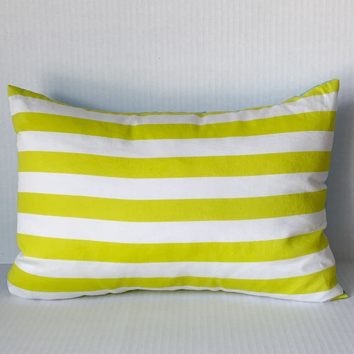 Citrus Stripe Pillow w Clouds Back