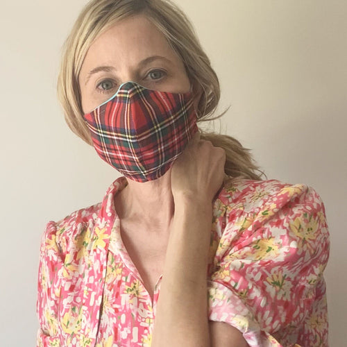 Luxe Face Mask 2.0 - Tartan Plaid
