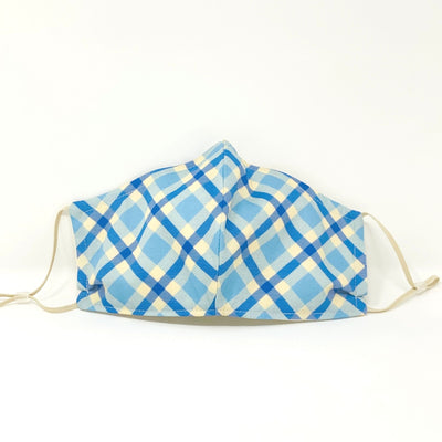 Luxe Face Mask 2.0 - Blue Plaid
