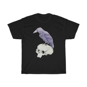 Raven & Skull Black Unisex Heavy Cotton Tee
