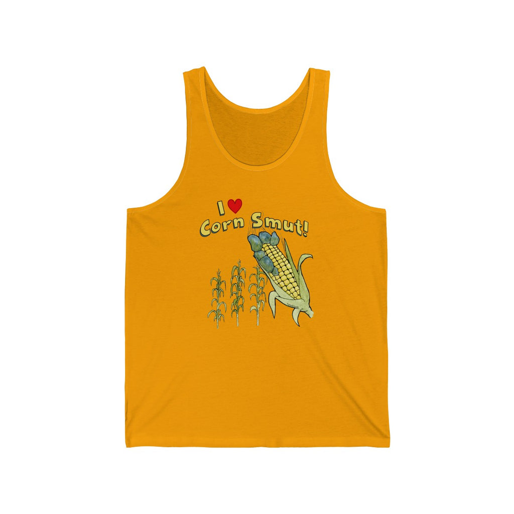 I love Corn Smut ! Golden Yellow Unisex Tank Top Shirt