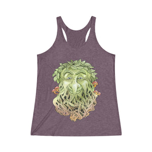 Greenman Women's Tri-Blend Racerback Tank in Purple