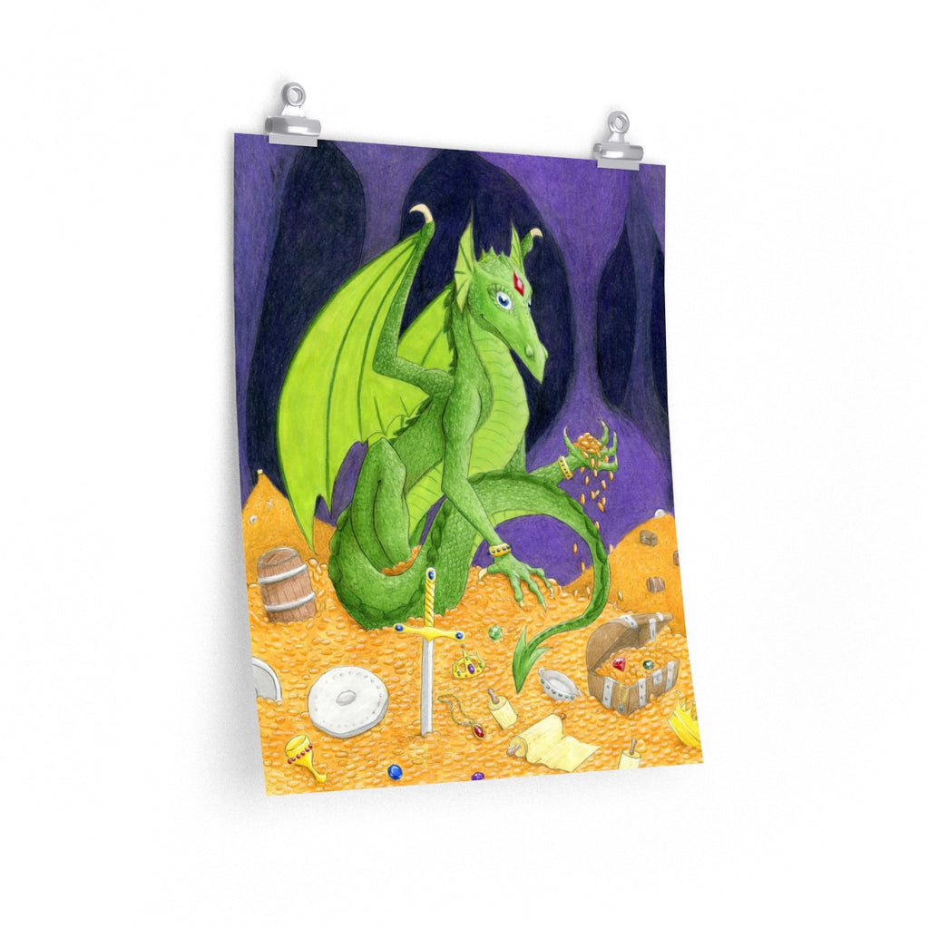Treasure Hoarding Dragon matte poster print