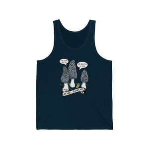 Morel Support - Unisex Tank top in Navy Blue