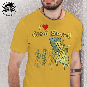I love Corn Smut ! Golden Yellow Unisex Heavy Cotton Tee