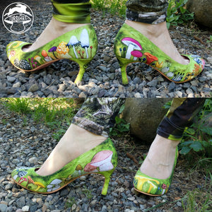 Mushrooms & Moss - Heel Shoes