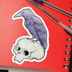 Raven & Skull Large outdoor sticker