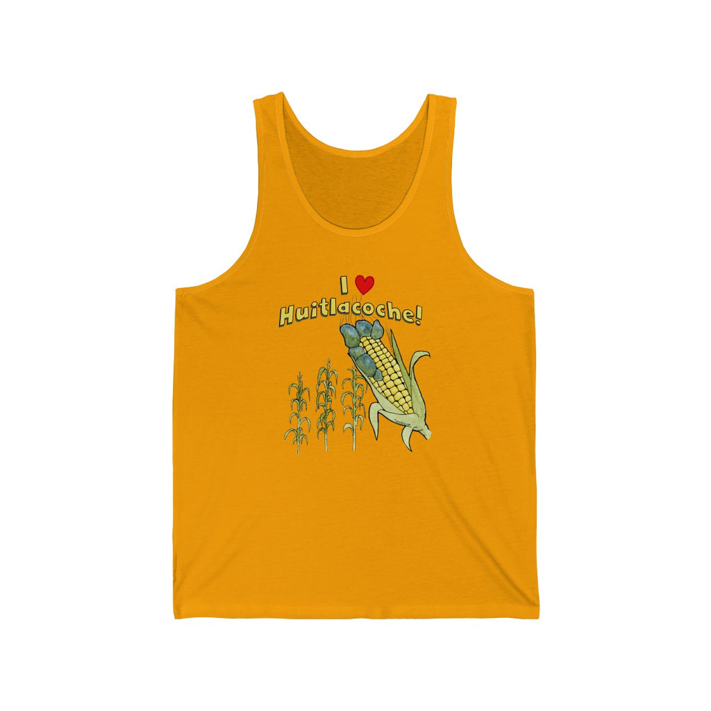 I love Huitlacoche Golden Yellow Unisex Tank Top