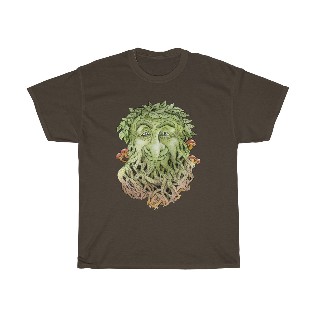 Greenman Unisex Heavy Cotton Tee Dark Chocolate Color