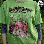 Cordyceps The Zombie Fungus! Unisex Heavy Cotton Tee Kiwi Green Color