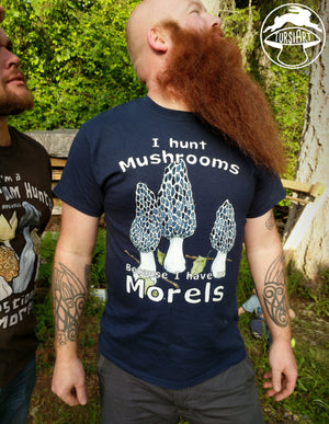 No Morels - Navy Blue Unisex Cotton Tee