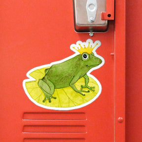 Frog Prince large outdoor sticker