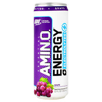 Optimum Nutrition Essential Amino Energy + Electrolytes RTD - Grape - 12 Cans - 60748927060623
