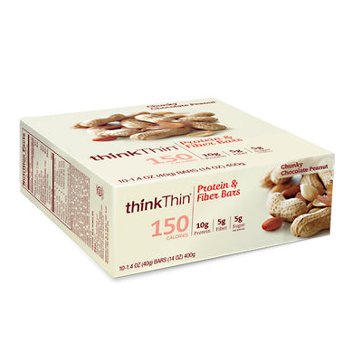 Think Products Think Thin Lean - Chunky Chocolate Peanut - 10 Bars - 753656711003