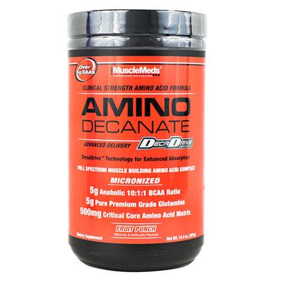 Muscle Meds Amino Decanate - Fruit Punch - 30 Servings - 891597005482