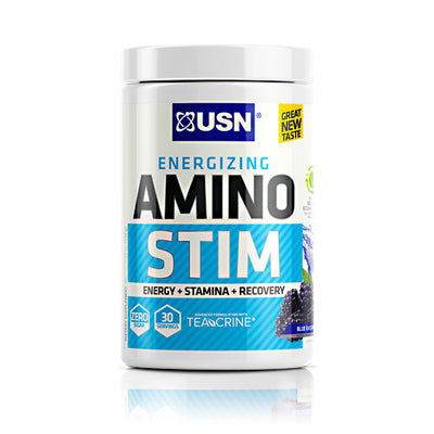Usn Cutting Edge Series Amino Stim - Blue Raspberry - 30 Servings - 6009706092238