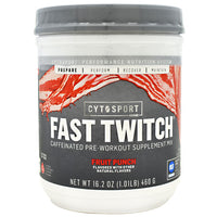 Cytosport Fast Twitch - Fruit Punch - 20 Servings - 660726811016