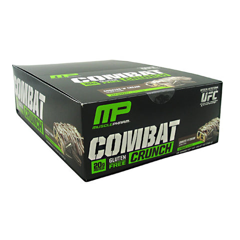 MusclePharm Hybrid Series Combat Crunch - Cookies N Cream - 12 Bars - 748252105578
