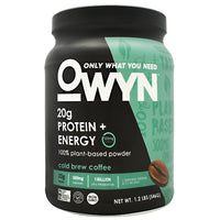 Only What You Need Energy Plant Protein - Cold Brew Coffee - 14 Servings - 857335004360