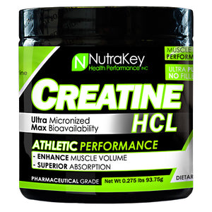 Nutrakey Creatine HCL - Unflavored - 125 ea - 851090006089