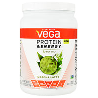 Vega Protein & Energy - Matcha Latte - 15 Servings - 838766006345