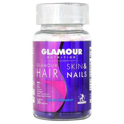 Midway Labs Glamour Hair, Skin & Nails - 30 Capsules - 813236024098