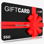 Professional Muscle Store Gift Cards