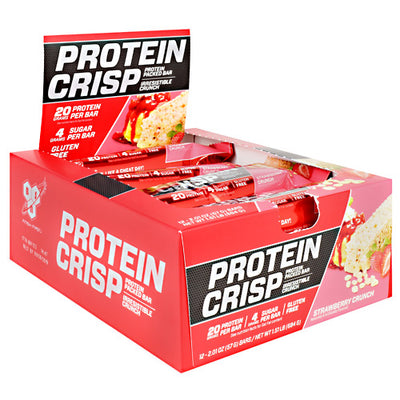 BSN Protein Crisps - Strawberry Crunch - 12 Bars - 834266908882
