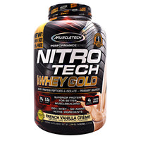 Muscletech Performance Series Nitro Tech 100% Whey Gold - French Vanilla Creme - 5.53 lb - 631656710519
