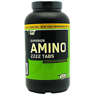 Optimum Nutrition Superior Amino 2222 Tabs - 320 Tablets - 748927026467