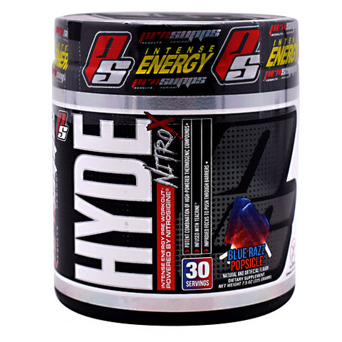 Pro Supps Hyde Nitro X - Blue Razz Popsicle - 30 Servings - 818253021938