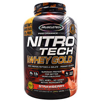 Muscletech Performance Series Nitro Tech 100% Whey Gold - Strawberry - 5.53 lb - 631656710502