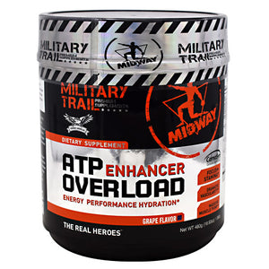 Midway Labs Military Trail Premium Supplements ATP Enhancer Overload - Grape - 30 Servings - 813236020045