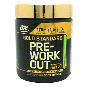 Optimum Nutrition Gold Standard Pre-Workout - Green Apple - 30 Servings - 748927052800