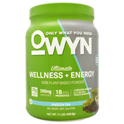 Only What You Need Energy Plant Protein - Matcha Tea - 14 Servings - 857335004377