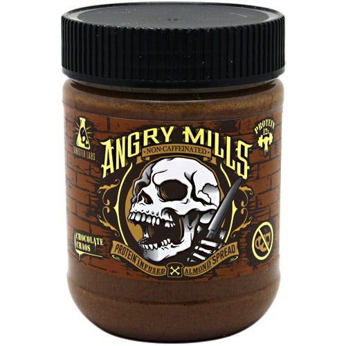 Sinister Labs Non-Caffeinated Angry Mills Almond Spread - Chocolate Chaos - 12 oz - 853698007031