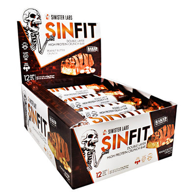 Sinister Labs Sinfit Bar - Peanut Butter Crunch - 12 ea - 853698007338