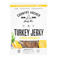 Country Archer Turkey Jerky - Citrus Rosemary - 2.75 oz - 853016002403