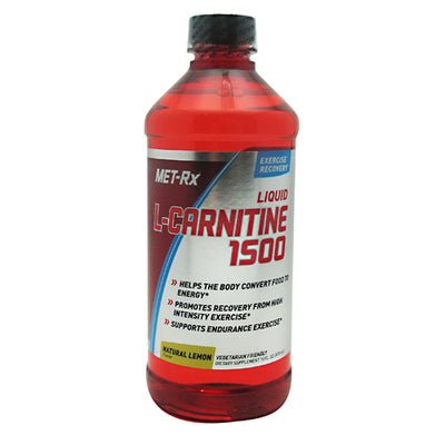 Met-Rx USA L-Carnitine 1500 - Natural Lemon - 16 fl oz - 786560159043