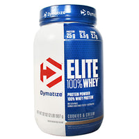 Dymatize Elite 100% Whey - Cookies & Cream - 2 lb - 705016599226